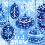 Let it Snow – Blue Christmas Snowflake Concept Art