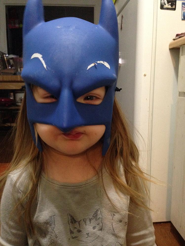 I Love You Batman - Joy in Batman Mask • Photo by Steph Calvert