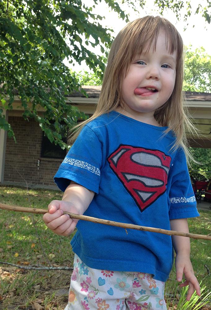 I Love You Batman - Joy in Superman Shirt • Photo by Steph Calvert