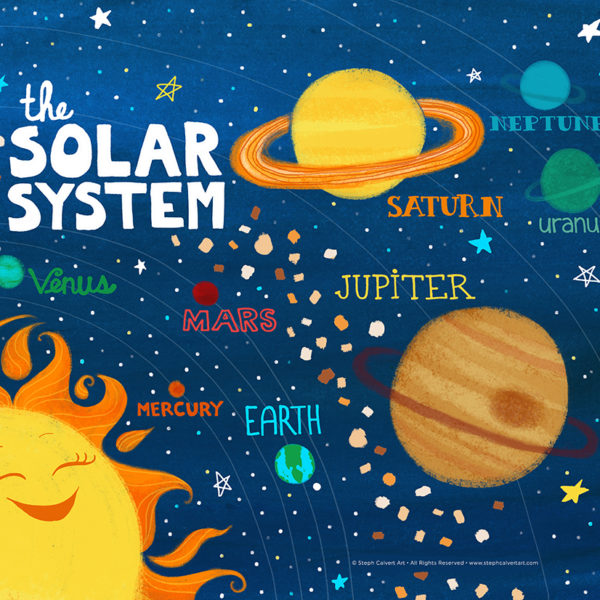 The Solar System by Steph Calvert Art