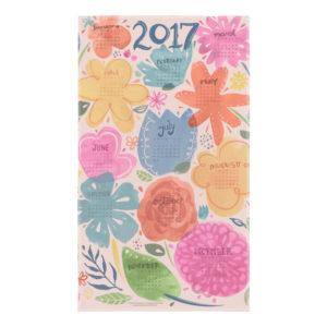 Floral 2017 Tea Towel Calendar by Steph Calvert Art