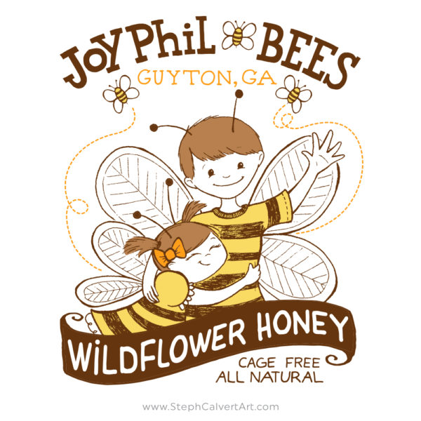 JoyPhil Bees beekeeping t shirt by Steph Calvert Art
