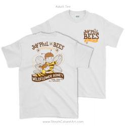 JoyPhil Bees Beekeeping Tee Shirt by Steph Calvert Art