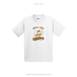 White JoyPhil Bees Youth Tee Shirt by Steph Calvert Art